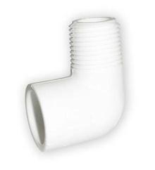 коляно с външ. резба PVC-U 1/2 цола