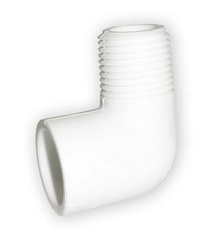 коляно с външ. резба PVC-U 1 цол
