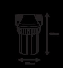 филтър за вода размери