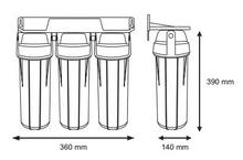 система филтри за вода размери