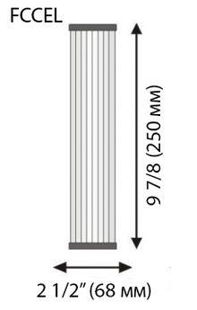 филтър за вода хармоника 10 инча размери