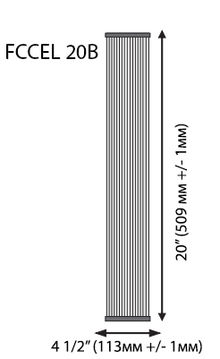 филтър тип хармоника 20 инча размери