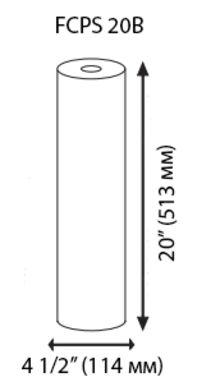 седиментен филтър 20 инча размери