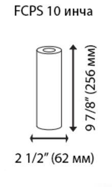 филтърен елемент 10 инча размери