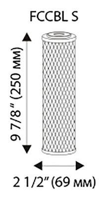 карбонов филтър за вода размери