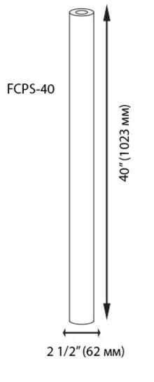 механичен филтър 40 инча размери