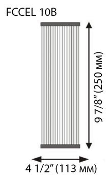 механичен филтър за вода перящ 20 инча размери